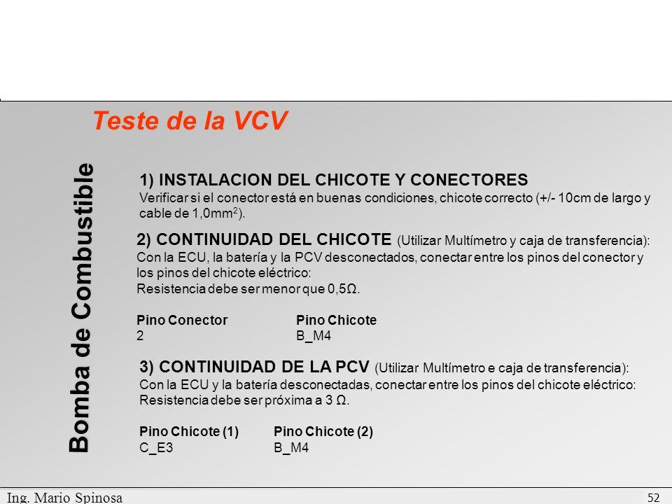 Teste de la VCV Bomba de Combustible