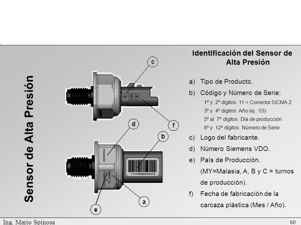 Identificación del Sensor de Alta Presión