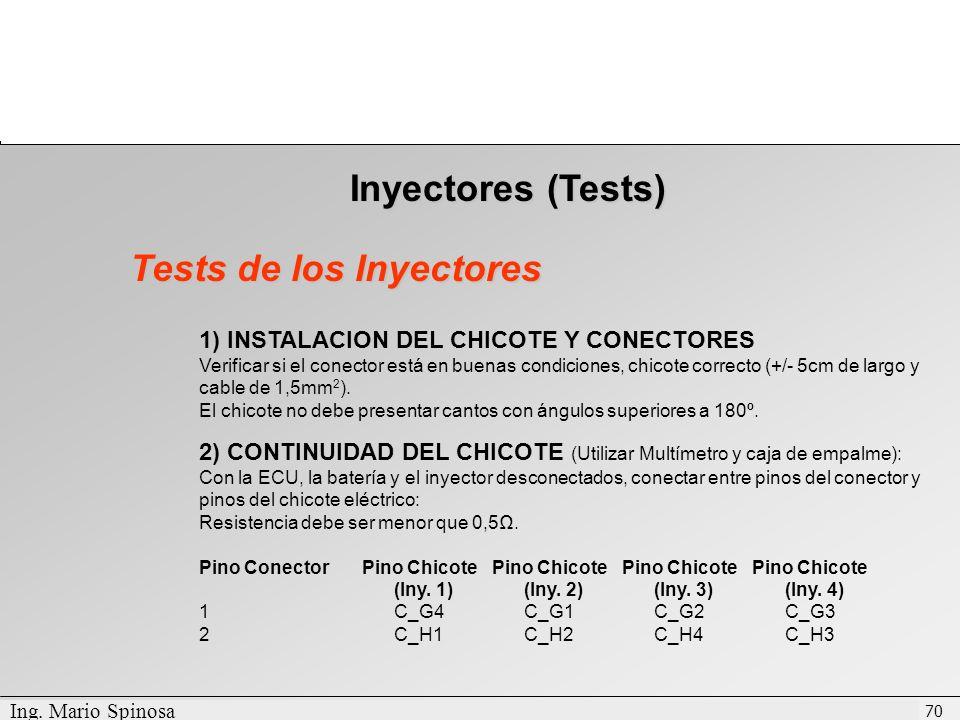 Tests de los Inyectores