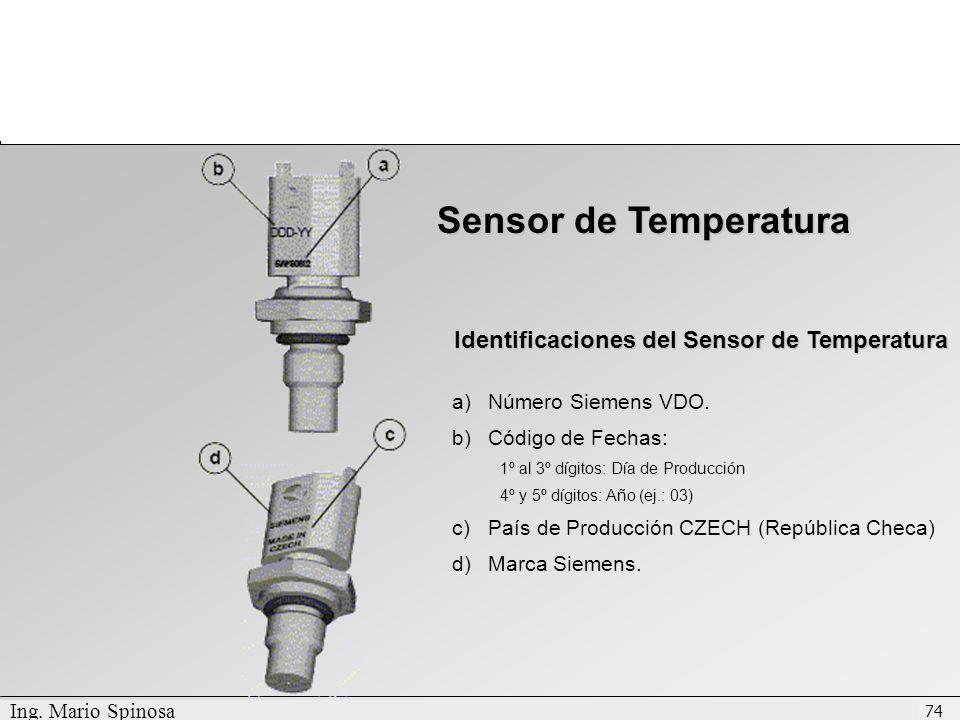 Identificaciones del Sensor de Temperatura
