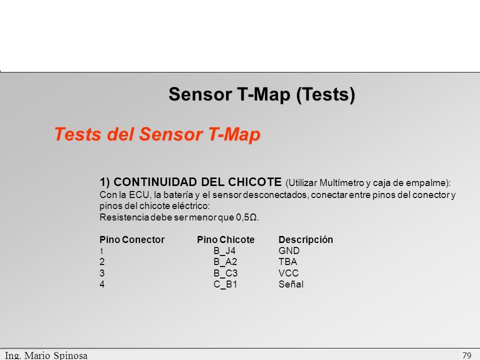 Sensor T-Map (Tests) Tests del Sensor T-Map