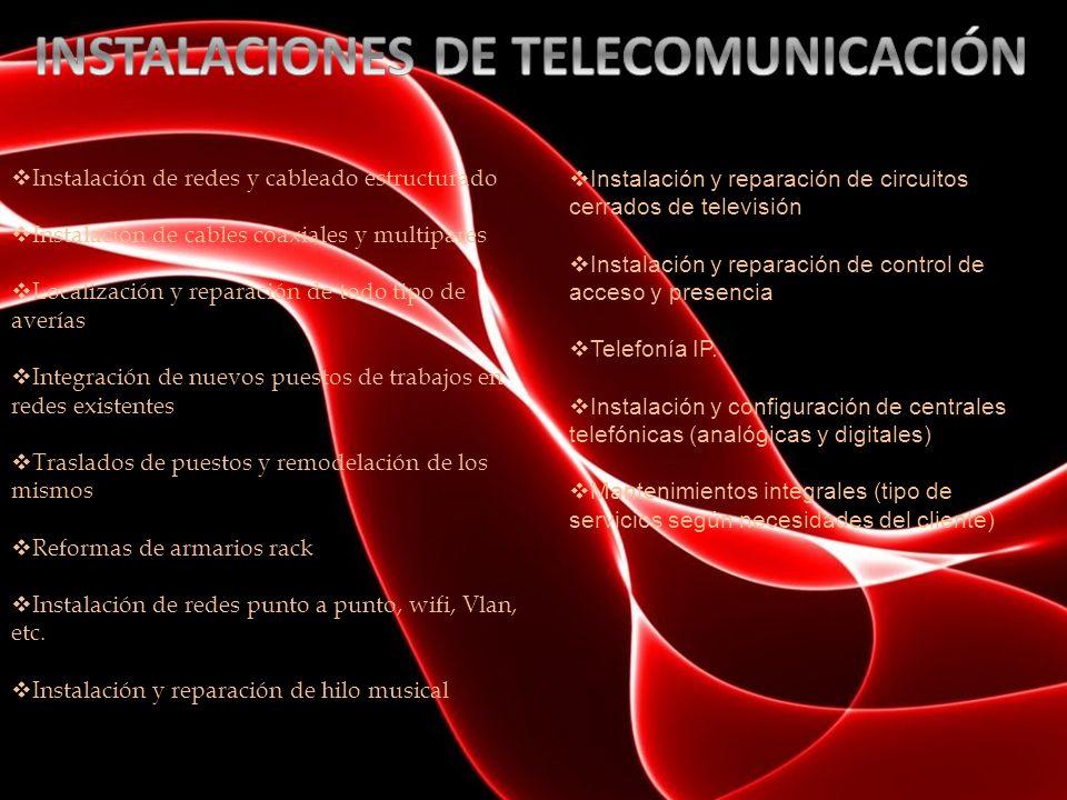 INSTALACIONES DE TELECOMUNICACIÓN
