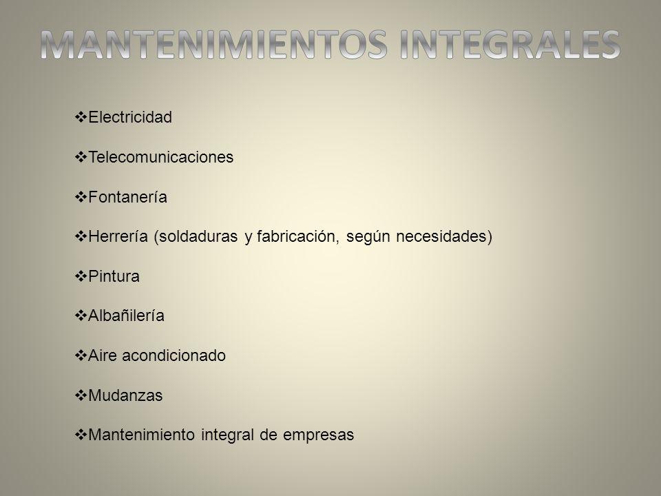 MANTENIMIENTOS INTEGRALES
