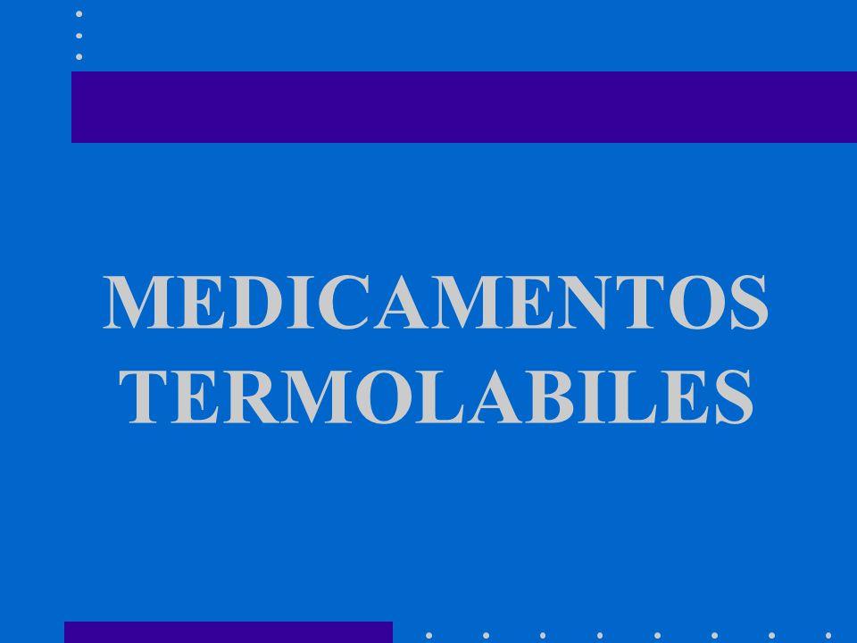 MEDICAMENTOS TERMOLABILES