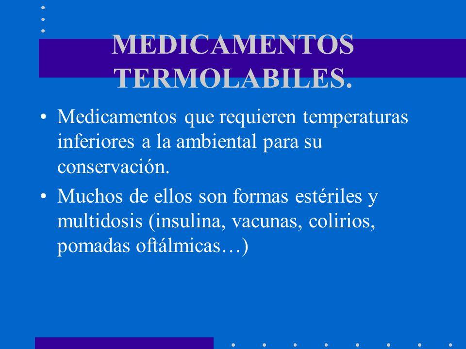 MEDICAMENTOS TERMOLABILES.