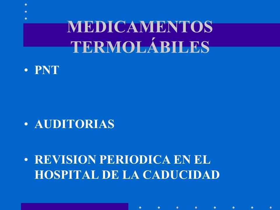 MEDICAMENTOS TERMOLÁBILES