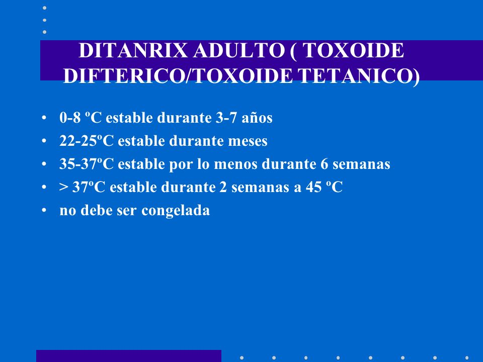 DITANRIX ADULTO ( TOXOIDE DIFTERICO/TOXOIDE TETANICO)