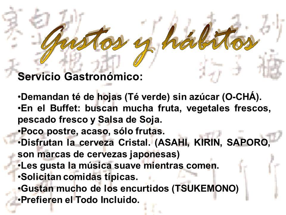 Gustos y hábitos Servicio Gastronómico: