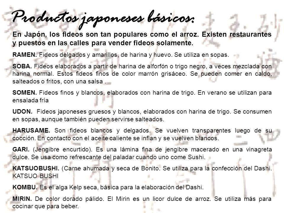 Productos japoneses básicos: