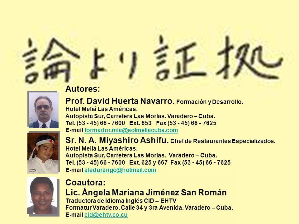 Prof. David Huerta Navarro. Formación y Desarrollo.