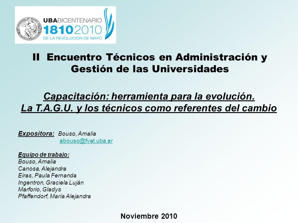 II Encuentro Técnicos en Administración y Gestión de las Universidades