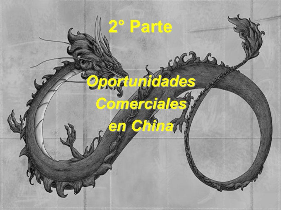 2° Parte Oportunidades Comerciales en China