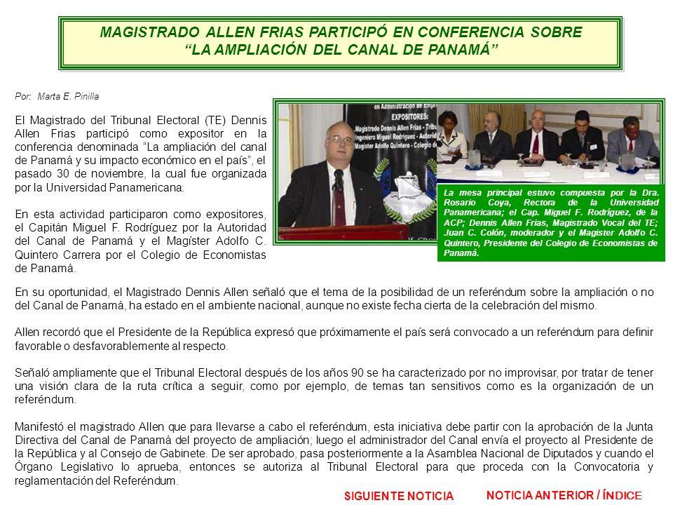 MAGISTRADO ALLEN FRIAS PARTICIPÓ EN CONFERENCIA SOBRE