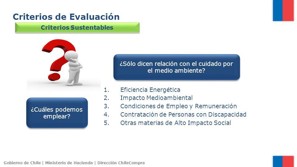 Criterios Sustentables