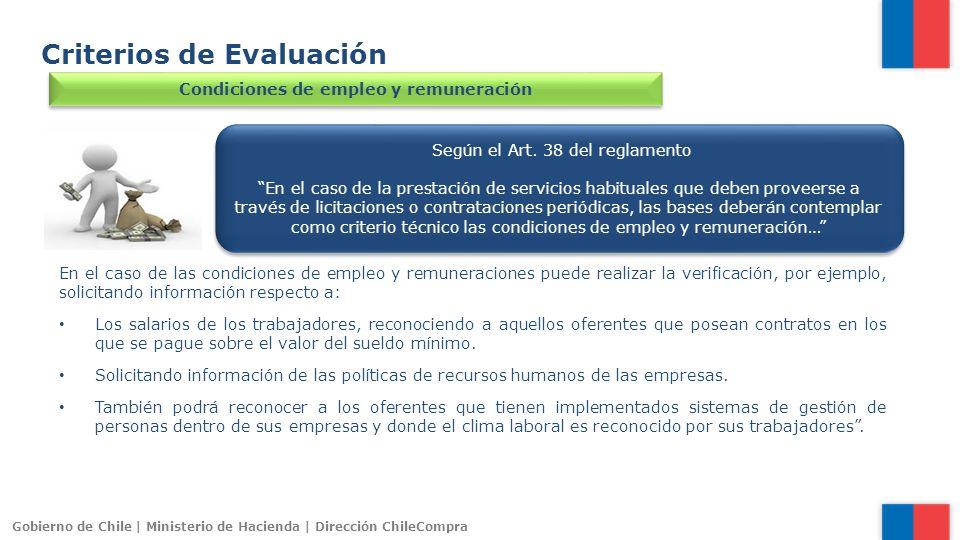 Condiciones de empleo y remuneración