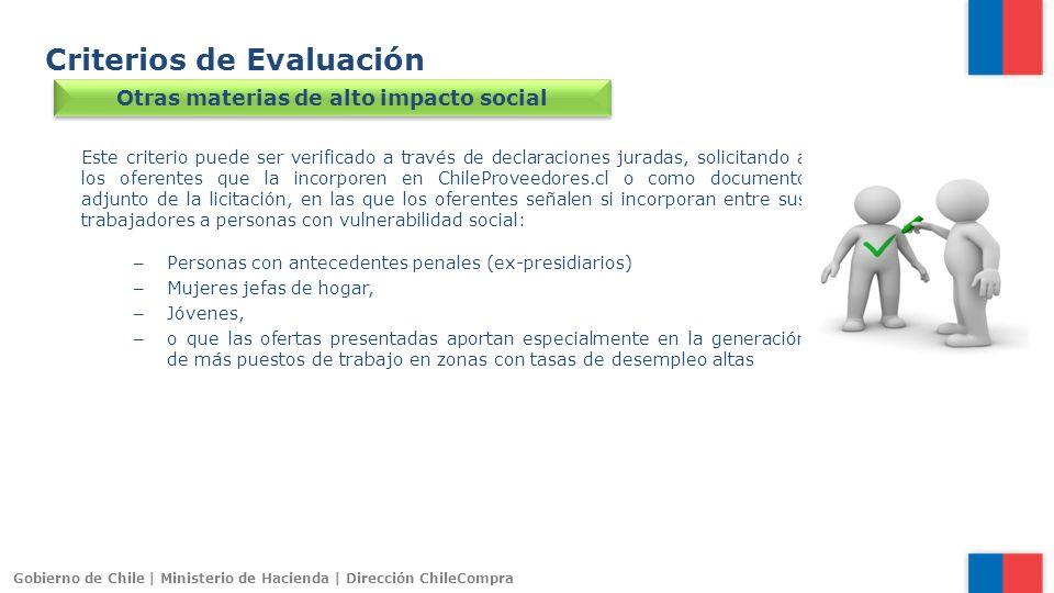 Otras materias de alto impacto social