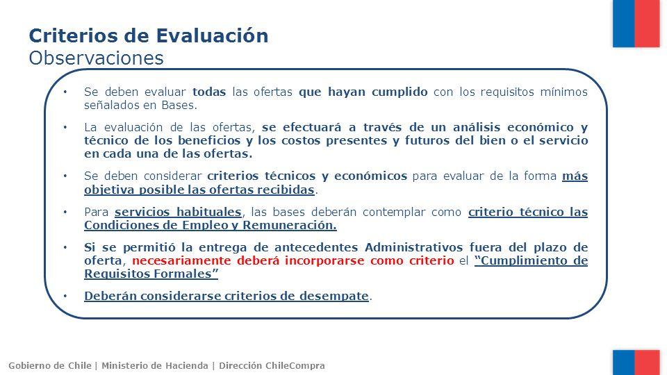 Criterios de Evaluación Observaciones