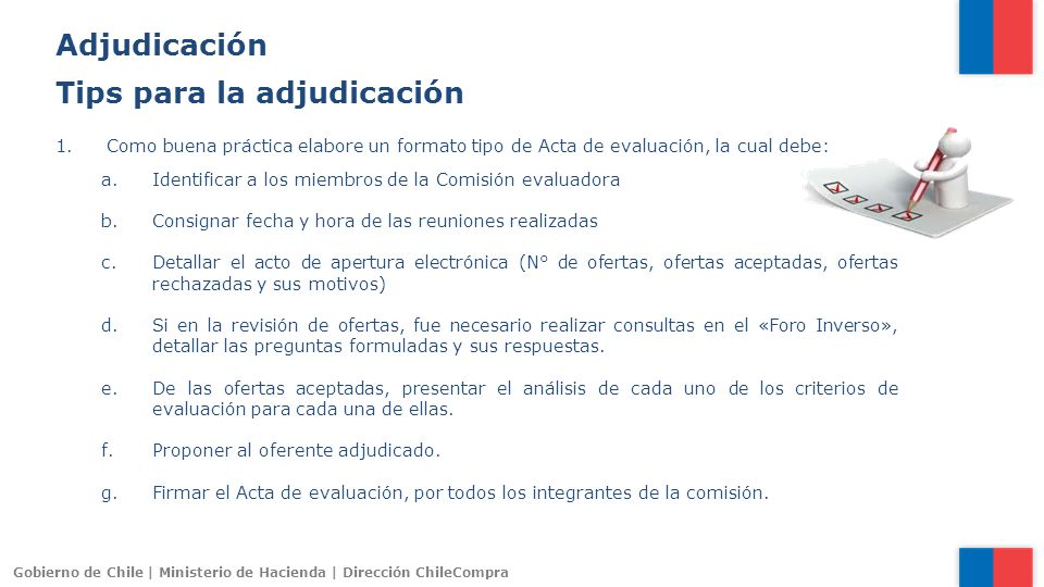 Tips para la adjudicación