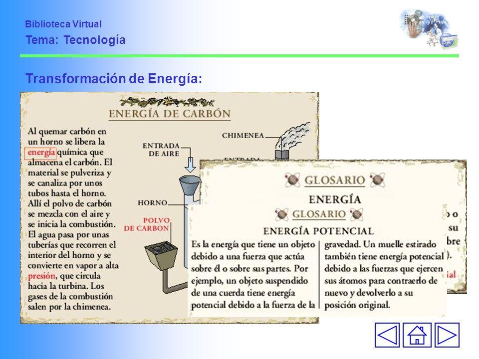 Transformación de Energía: