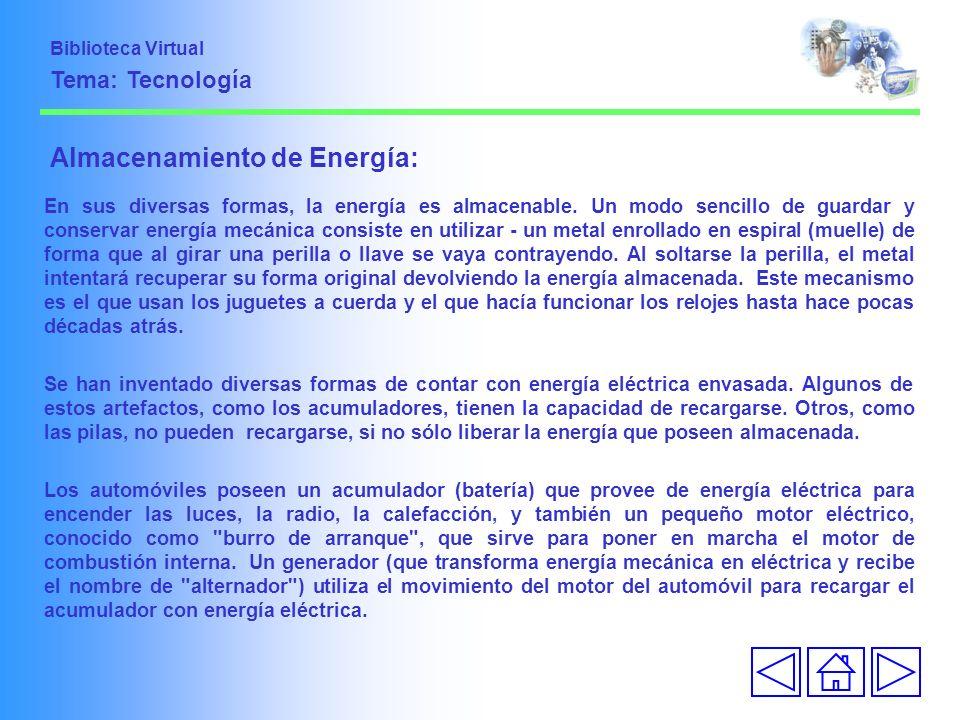 Almacenamiento de Energía: