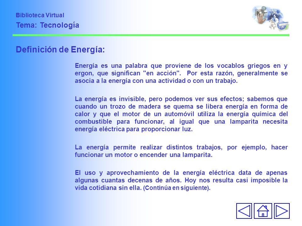 Definición de Energía: