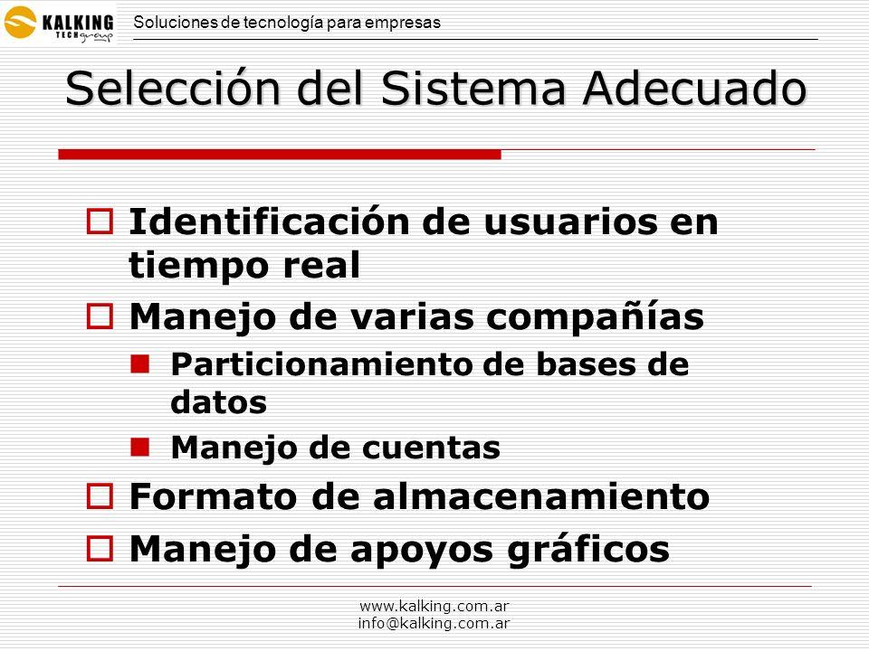 Selección del Sistema Adecuado