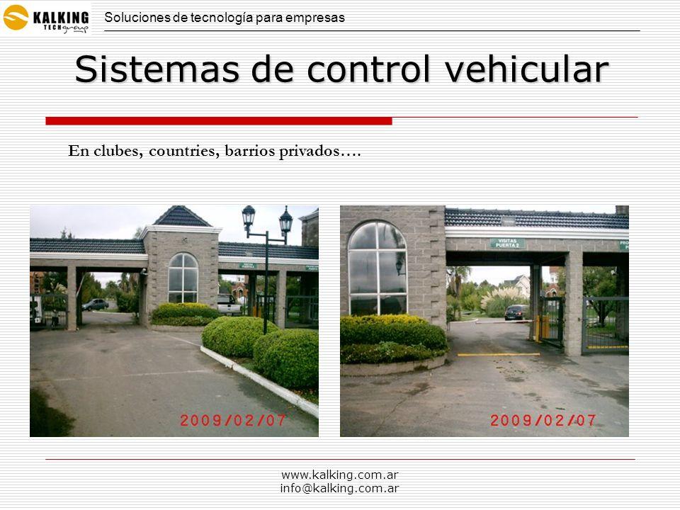 Sistemas de control vehicular