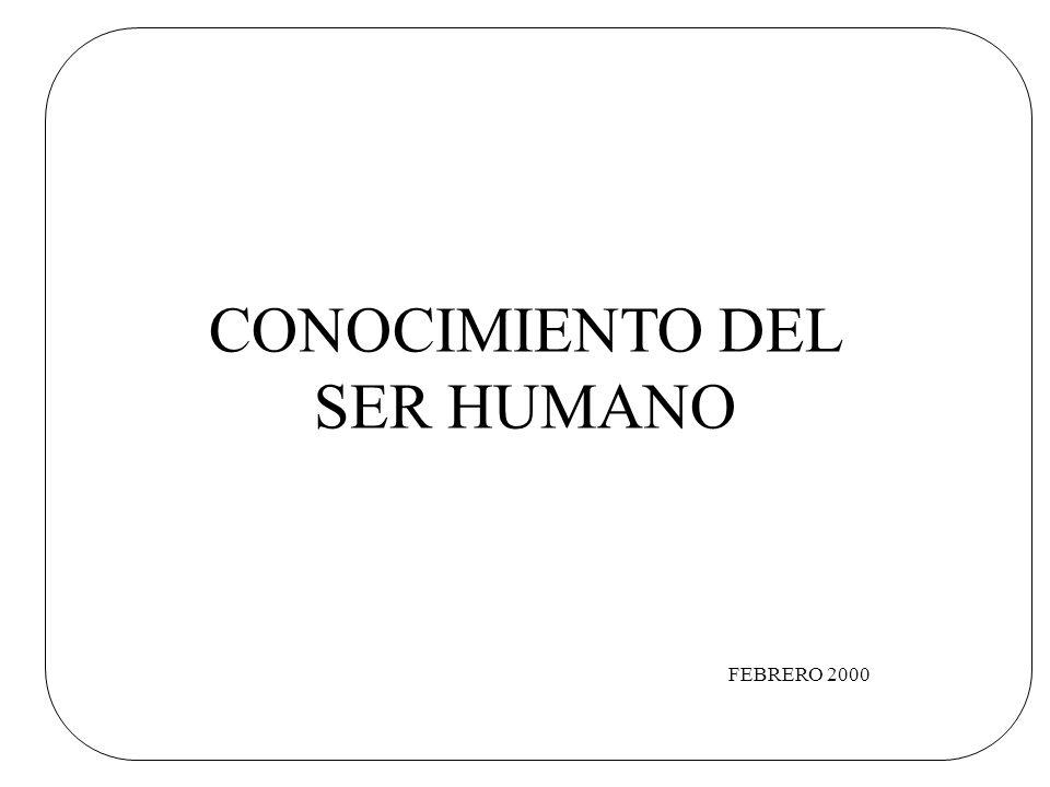 CONOCIMIENTO DEL SER HUMANO