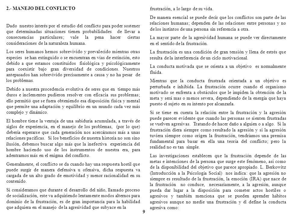2.- MANEJO DEL CONFLICTO