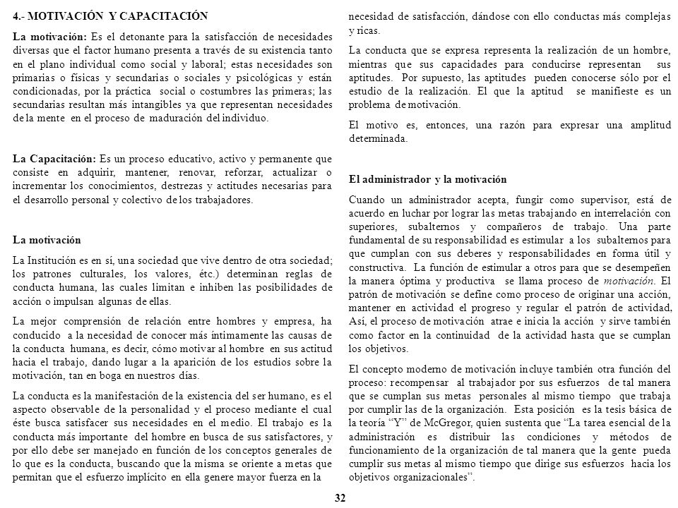 4.- MOTIVACIÓN Y CAPACITACIÓN