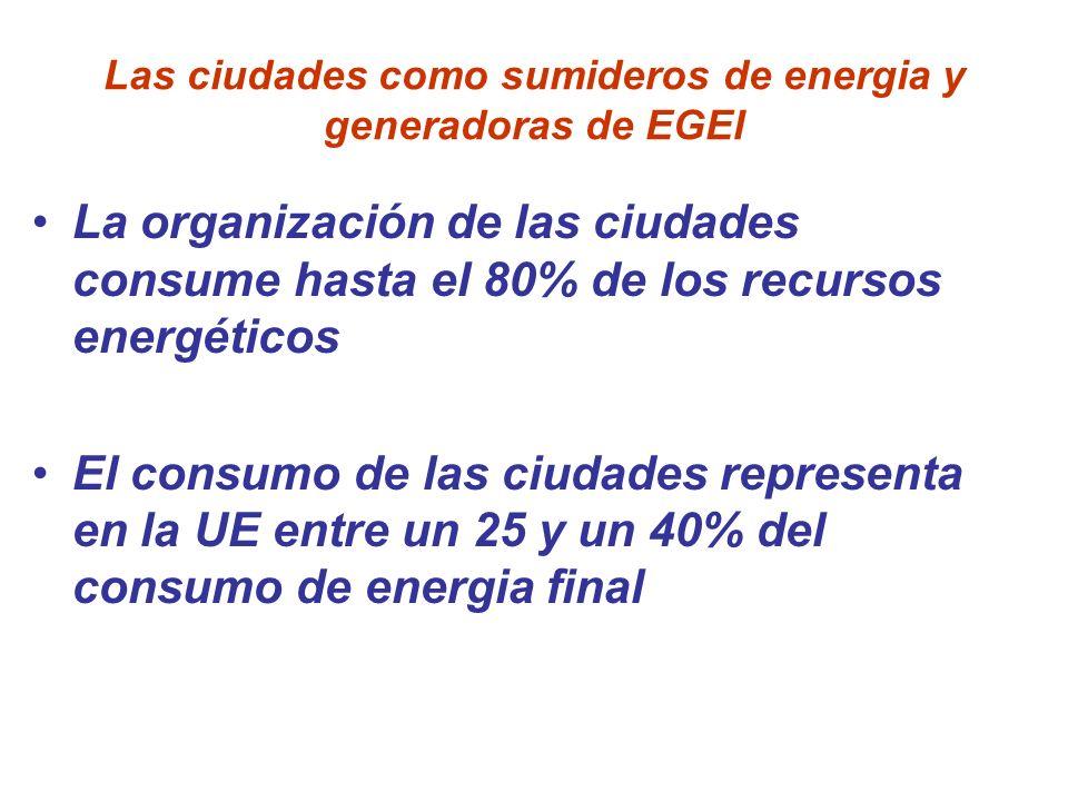 Las ciudades como sumideros de energia y generadoras de EGEI