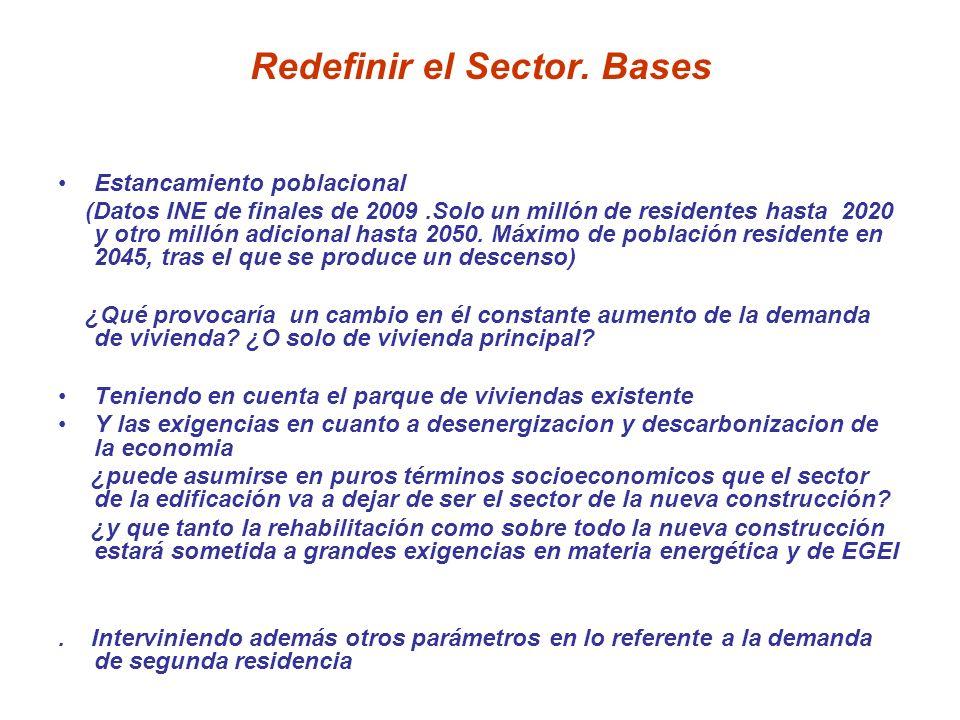 Redefinir el Sector. Bases