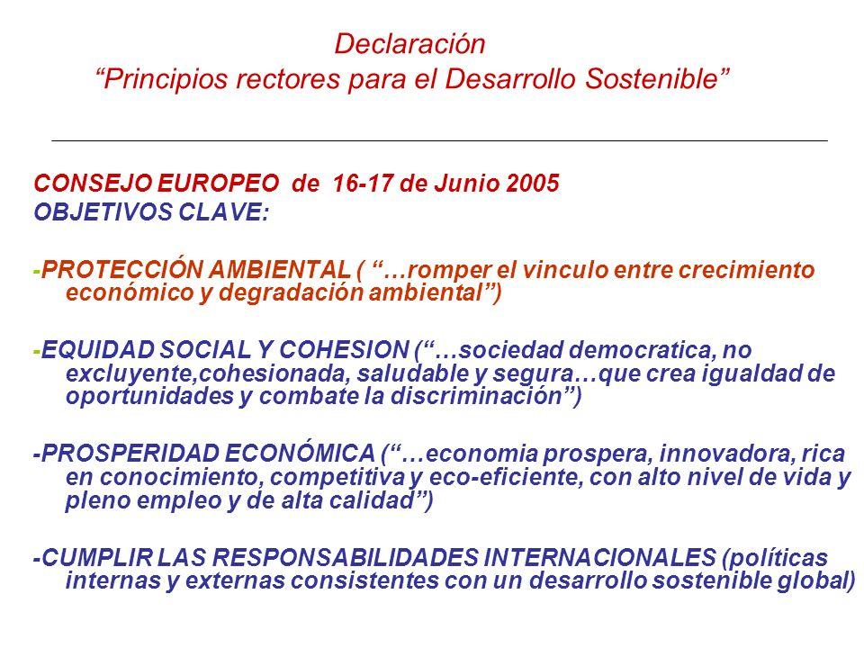 Declaración Principios rectores para el Desarrollo Sostenible