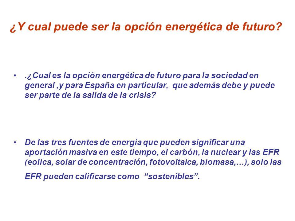 ¿Y cual puede ser la opción energética de futuro