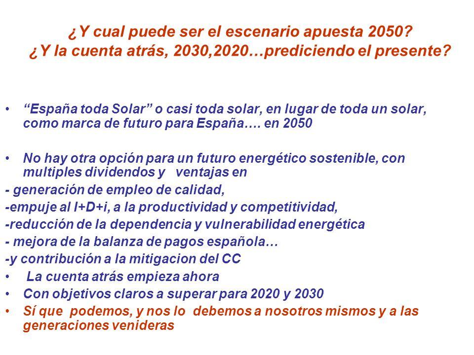 ¿Y cual puede ser el escenario apuesta 2050