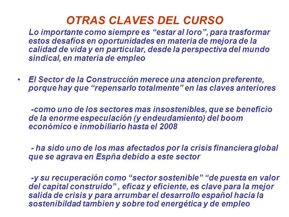 OTRAS CLAVES DEL CURSO