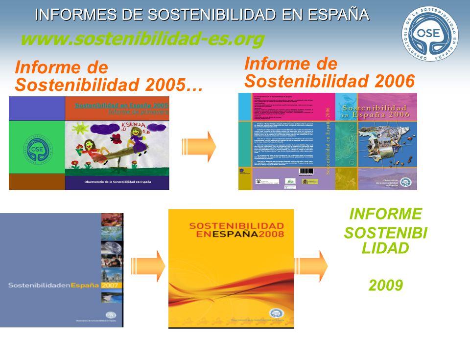 INFORMES DE SOSTENIBILIDAD EN ESPAÑA