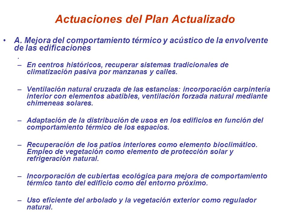 Actuaciones del Plan Actualizado