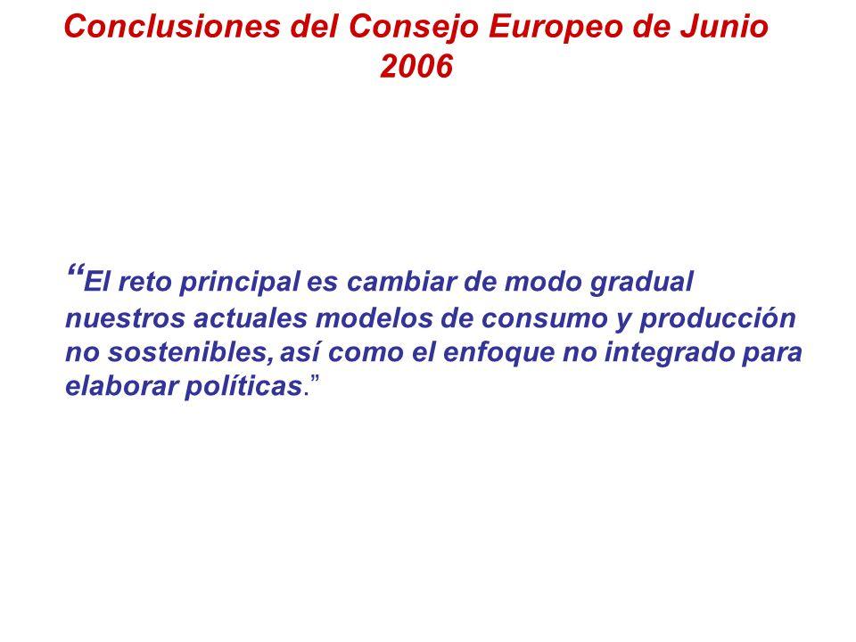 Conclusiones del Consejo Europeo de Junio 2006