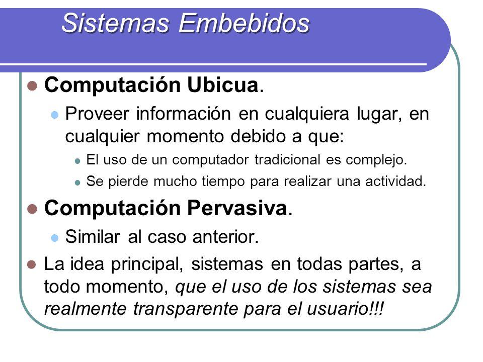 Sistemas Embebidos Computación Ubicua. Computación Pervasiva.