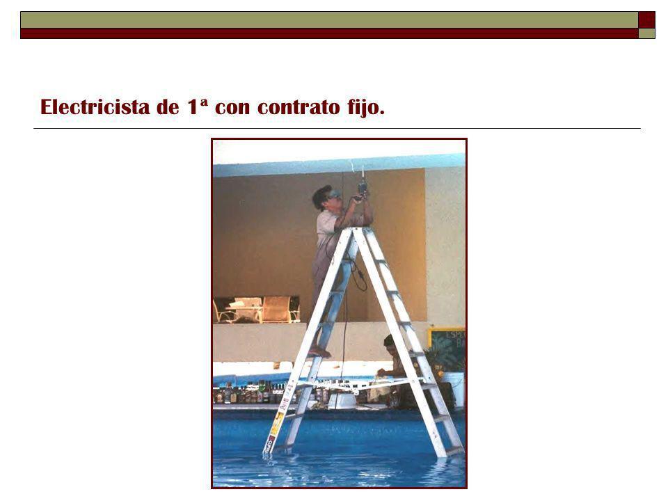 Electricista de 1ª con contrato fijo.