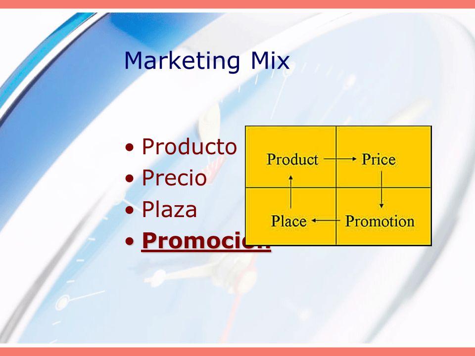 Marketing Mix Producto Precio Plaza Promoción