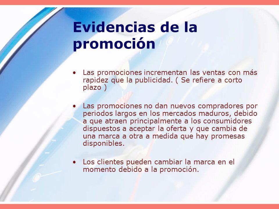 Evidencias de la promoción