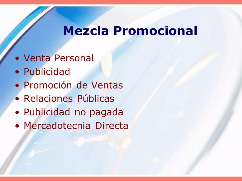Mezcla Promocional Venta Personal Publicidad Promoción de Ventas
