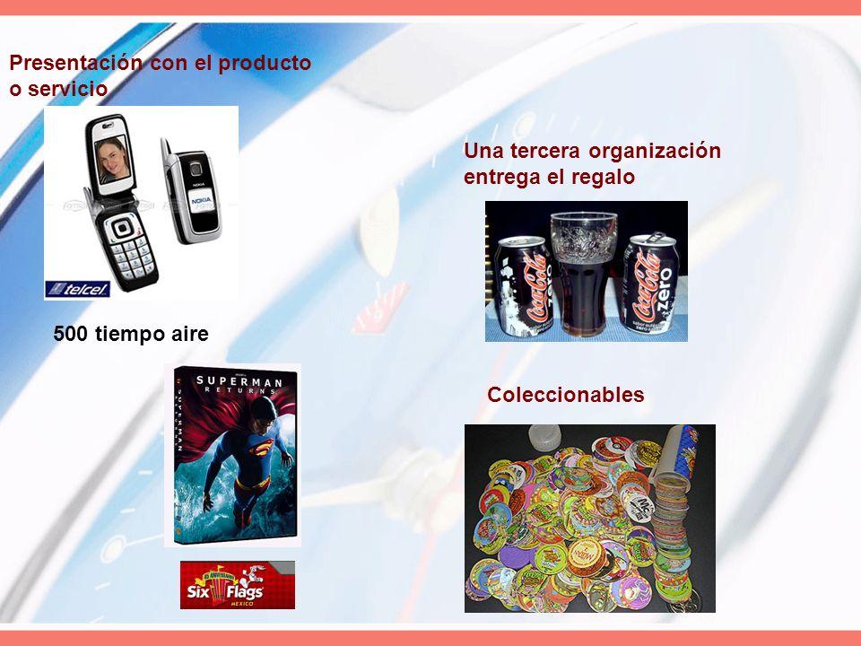 Presentación con el producto o servicio