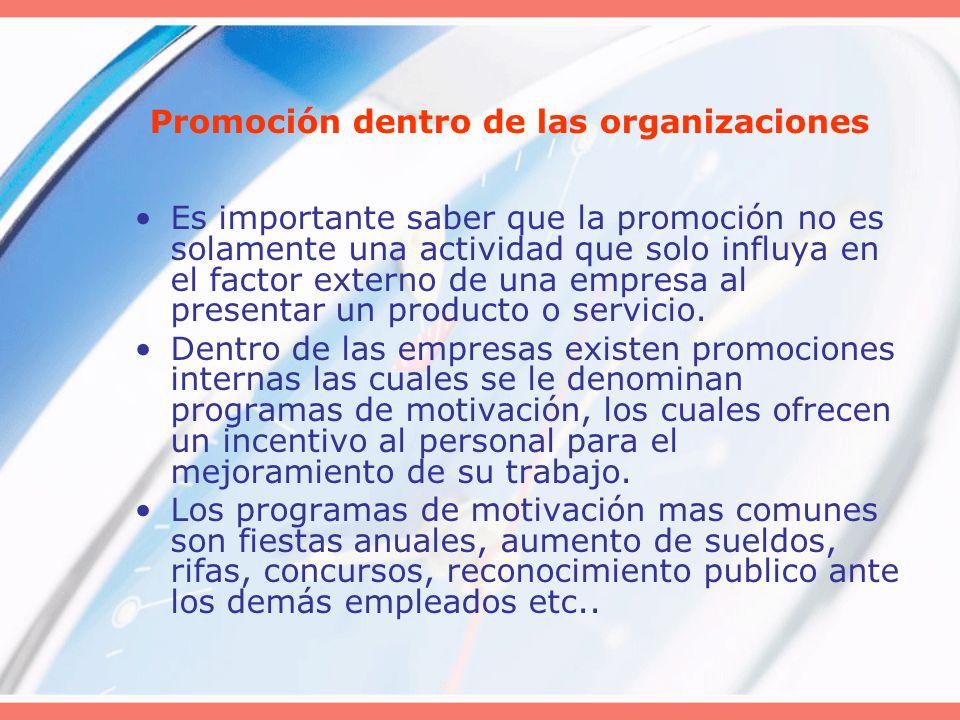 Promoción dentro de las organizaciones