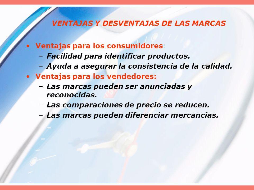 VENTAJAS Y DESVENTAJAS DE LAS MARCAS