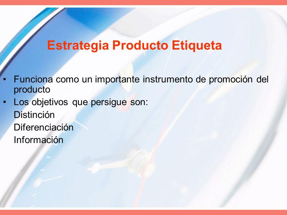 Estrategia Producto Etiqueta