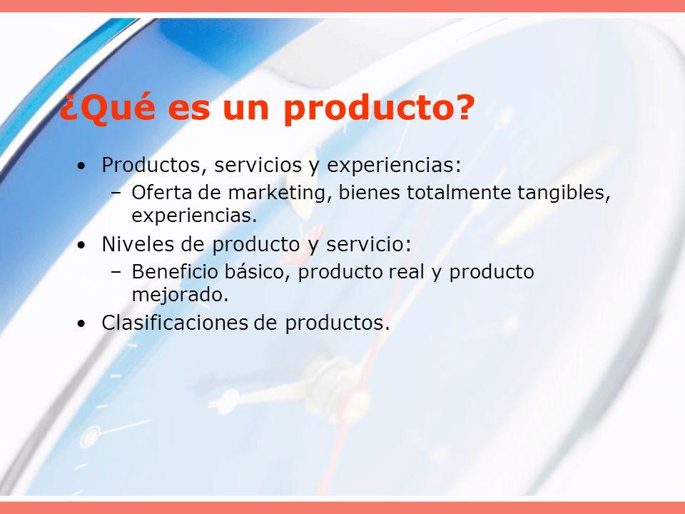 ¿Qué es un producto Productos, servicios y experiencias: