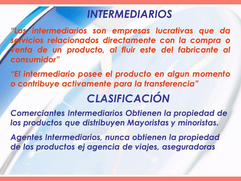 INTERMEDIARIOS CLASIFICACIÓN